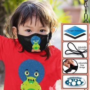 Kid's 2-Ply Reusable Face Mask with Adjustable Ear Loops